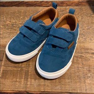 Toddler Blue Microfiber Shoes
